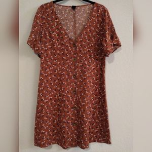 Nwot Wild  Fable floral Babydoll Dress